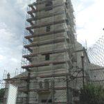 Fasádne lešenie pre rekonštrukciu kostola, BA