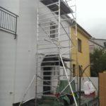 Lešenie pre montáž komína, Bratislava