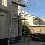 Pomocné lešenie k debneniu vencov, RD Bratislava