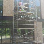 Pojazdné lešenie pre čistenie okien, PO Bratislava