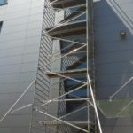 Hliníkové lešenie pre servis okien, Vedecký park, BA