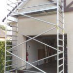 Pojazdné lešenie pre čistenie fasády, BA